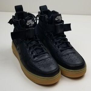 Nike SF AF1 Mid Sneakers Size 7.5W 6Y Black